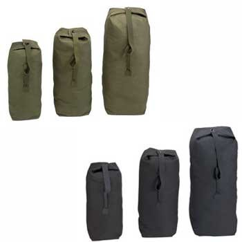 958d672ca Canvas Duffle Bag with Fold-over Top