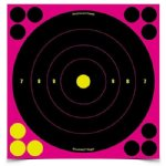 "Birchwood Casey - 6 Pack 8"" Self Adhesive Targets (Pink)"