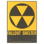 "Original Fallout Shelter Sign 10""x14"""