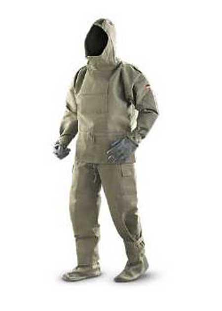 New German 5 Piece Chemical Suit
