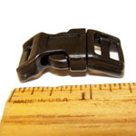 "25 Count 1/2"" Contoured Side Release Plastic Buckles"