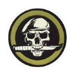 Skull With Knife Patch