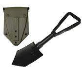 Military Issue Trifold Shovel with Cover
